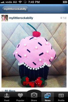 Cute little cupcake pillow!