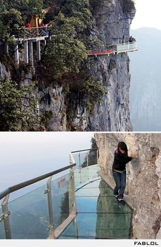 SCARY!!! Acrophobia...it literally makes me nauseous just looking at this pic :(