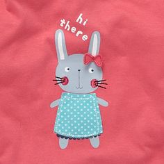 Baby's pink applique bunny t-shirt - T-shirts - T-shirts & tops - Kids -