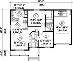 House Plan 52515 Level One