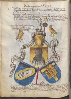 Grünenberg, Konrad: Das Wappenbuch Conrads von Grünenberg, Ritters und Bürgers zu Constanz um 1480 Cgm 145 Folio 61