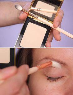 Eye Makeup For Deep Set Eyes - Step By Step Tutorial #MakeupTutorialStepByStep Mascara Tips, How To Apply Mascara, How To Apply Makeup, Deep Set Eyes Makeup, Blue Eye Makeup, Neutral Eyeshadow, Shimmer Eyeshadow, Eyeshadows, Makeup Tutorial Step By Step