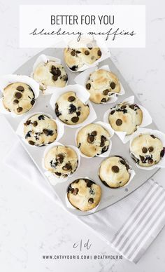 Cathy Durig | Better For You Blueberry Chocolate Chip Muffins