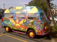 Hippie vans   awsome hippie van