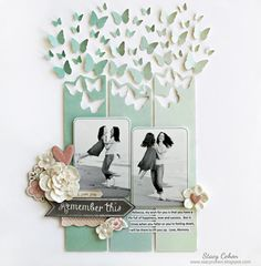 #papercraft #scrapbook #layout My Creative Scrapbook February Main kit created by Guest Designer Stacy Cohen.