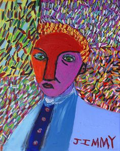 Man with Sad Face - this painting will be on exhibit at ARTEXPO MILANO 2015 Mila, Italy.