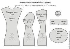 Patrón para hacer un mini-maniquí Patrón para hacer un bonito mini-maniquí, puedes personalizarlo a tu gusto para regalar o como decoración en tu cuar., Patrón para hacer un mini-maniquí - Patrones gratis, # ✂❤ Doll Clothes Patterns, Doll Patterns, Sewing Patterns, Sewing Hacks, Sewing Crafts, Sewing Projects, Sewing Tips, Dress Form Mannequin, Clothes Mannequin