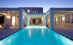 The White Cycladic House in Mykonos captures the Greek island spirit within its white washed walls. Displaying a fascinating connection to the traditional Greece Architecture, Interior Architecture, Mediterranean Architecture, Mykonos, Greek Restaurants, Hotels, Decor Interior Design, My Dream Home, Beautiful Homes