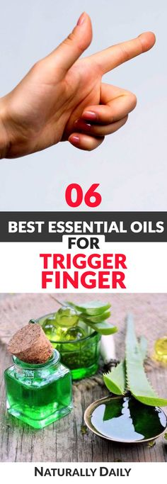 6 Best Essential Oils for Trigger Finger (Thumb Relief) #TriggerFinger #musclerelief