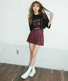 Roupas top, roupas fofas, roupas lindas, roupas alternativas, roupas para a Korea Fashion, Kpop Fashion, Cute Fashion, Asian Fashion, Teen Fashion, Fashion Looks, Fashion Outfits, Fashion Trends, Ulzzang Fashion Summer