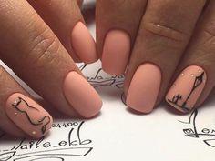 Top 40 Cute Nail Designs ideas for Short Nails Cat Nail Art, Cat Nails, Pink Nails, Bunny Nails, Peach Colored Nails, Pretty Nail Art, Cute Nail Designs, Stylish Nails, Manicure And Pedicure