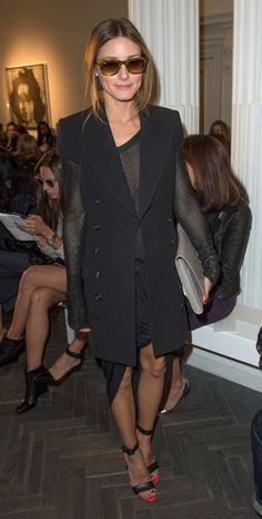 Olivia Palermo at Jonathan Saunders. Olivia Palermo at Matthew Williamson. Estilo Olivia Palermo, Olivia Palermo Lookbook, Olivia Palermo Style, Bon Look, Looks Street Style, Looks Black, Fashion Mode, Style Fashion, Fashion Photo