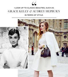 Kristina Bazan On Bazan: Zara coat; vintage top; H skirt; Louis Vuitton bag and shoes.