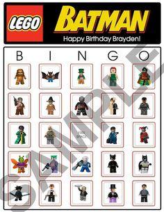Bingo Lego Batman Birthday Party Game Cards by BDAYSTUFF4U on Etsy