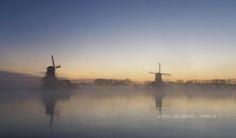 almost like a #dream #zaanseschans in #holland #sunrise