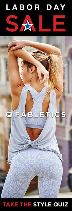 Fabletics Labor Day SALE – Get Your First OutFit for $15! Limited Time Only When You Become A VIP Member. Discover Fabletics by Kate Hudson Workout Outfits for 2016 that are Curated for Your Lifestyle by taking our Lifestyle Quiz to take advantage of this offer! Offer Ends 9/01/2016.