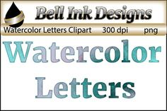 There are 26 uppercase and 26 lowercase letters in this file. Each is filled with the same watercolor texture.Personal, classroom, and commercial use ok. Please see the TOU upon purchase for a full description of how graphics may be used,