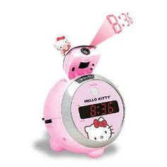 HELLO KITTY Projection Clock Radio. @CaitlinSchwarer, look what Jena found!