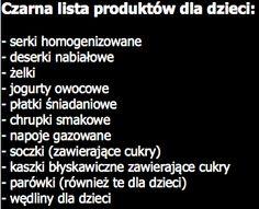 Czarna lista produktów dla dzieci