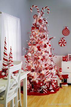 christmas pretty christmas trees christmas tree themes candy cane christmas tree christmas time