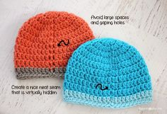 Here is a quick tip on how to create a virtually hidden seam on crochet hats!