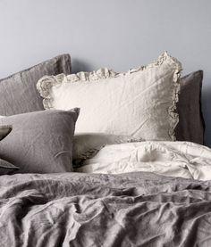 H & M Linen bedding.