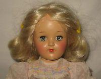"1950's Ideal 14"" HP Platinum Blonde Toni Doll In Original Dress P-90  MK15"