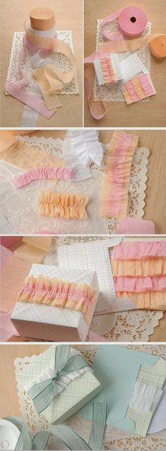 Ruffles out of tissue paper wrap | A1 Pictures