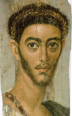 Mummy portrait of a lean young man