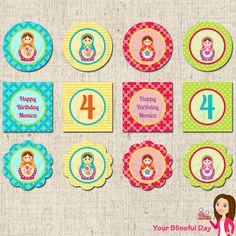 PRINTABLE+Matryoshka+Doll+Party+Circles+by+yourblissfulday+on+Etsy,+$8.00