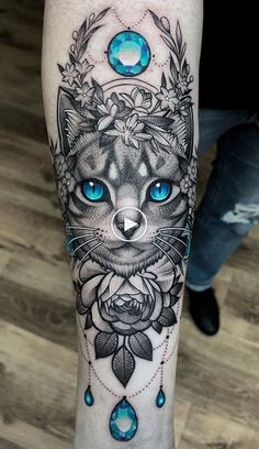 Cat Tattoo: Meaning Ideas and Photos Animals nailart nail art sencillo -. - Cat Tattoo: Meaning Ideas and Photos Animals nailart nail art sencillo – - Black Cat Tattoos, Kitty Tattoos, Top Tattoos, Trendy Tattoos, Animal Tattoos, Body Art Tattoos, Small Tattoos, Tattoos For Women, Leg Sleeve Tattoos