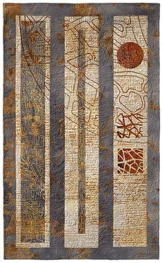Haiku - Eszter Bornmisza, Hungary Put a jaw dropping WOW here. That's an amazing piece of quilt art.