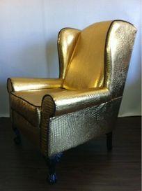 Genial Gold Rockstar Wing Back Chair   New   New