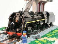 141 R 840 Mikado Steamtrain :: The 141 R Steamtrain : The classic Train Lego, Lego Trains, Lego Plane, Lego Boat, Bateau Lego, 10 Year Plan, Westerns, Rolling Stock, Lego Models