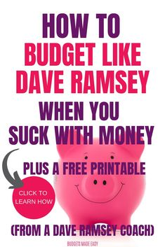 How to budget like Dave Ramsey even when you are learning how to budget for beginners. Learn how to budget your money so you can win with your finances!