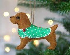 Resultado de imagen de felt dog ornaments
