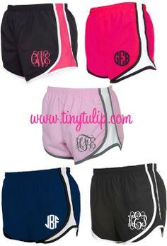 tinytulip.com - Monogrammed Running Athletic Shorts, $28.50 (http://www.tinytulip.com/monogrammed-running-athletic-shorts)