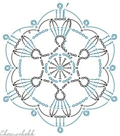 Crochet Instructions, Crochet Diagram, Crochet Motif, Irish Crochet, Crochet Doilies, Crochet Flowers, Crochet Patterns, Crochet Earrings Pattern, Crochet Snowflake Pattern