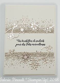 Advent, Snowflake Cards, Handmade Christmas, Stampin Up Cards, Cardmaking, Christmas Cards, Projects To Try, Paper Crafts, Winter