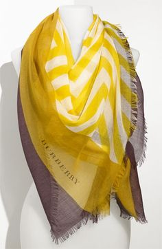 Whether traveling via plane, train or boat, a big, bold scarf is essential. This cashmere & silk (biodegradable & renewable) Burberry Mega Scarf adds a splash of color and a bit of elegance. @Nordstrom