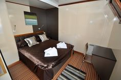 A double room on our yacht. Visit http://out-adventures.com/trip/lesbian-and-gay-croatia-978/ for more information about this adventure. #gaytravel #croatia #outadventures #yacht