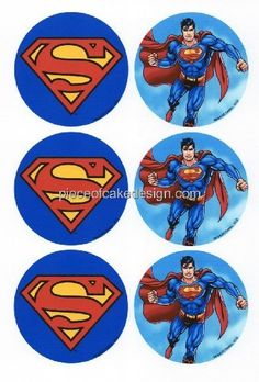 14  Superman  Logo Rounds  Edible Image Cake  Cupcake Topper * See this great product.(This is an Amazon affiliate link and I receive a commission for the sales)