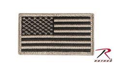 US FLAG PATCH KHAKI/BLACK