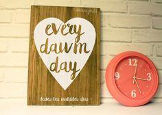 Cartel pintado madera hand made. Mimegusta. Carteles personalizados. www.mimegusta.com