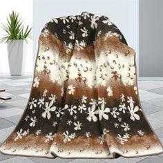 Vlnená deka Kvety, 155 x 200 cm