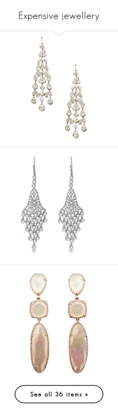 """Expensive jewellery"" by glamgirl321 ❤ liked on Polyvore featuring jewelry, earrings, earring jewelry, diamond chandelier earrings, victorian jewelry, victorian jewellery, diamond earrings, 14k diamond earrings, white gold diamond earrings and dangle diamond earrings"