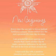 Affirmation - New Beginnings