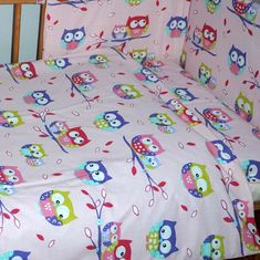 Add some fun to your toddler nursery with this cute Owl design Cotbed Duvet Cover Set. Made from cotton, the density and strength of this children's duvet cover set is incredibly strong. Cot Bed Duvet Cover, Cot Bedding, Duvet Cover Sets, Linen Bedding, Bedding Sets, Childrens Duvet Covers, Pink Owl, Cute Owl, Toddler Bed