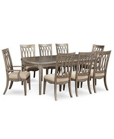 Kelly Ripa Home Hayley 9 Pc Dining Set Table 6 Side