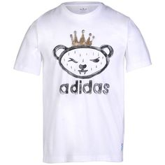 ADIDAS ORIGINALS by NIGO ARTIST BEAR TEE Sport T-shirt ❤ liked on Polyvore featuring tops, t-shirts, sports tees, adidas originals, sport tee, sport top and bear tee